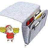 Nifogo Feutre épais Poche de lit de Chevet Canapé Lit Organisateur de Poche Bien Rangé pour Téléphone, Télécommande, Magazine