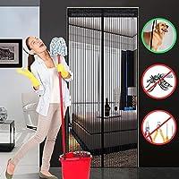 Hiveseen Moustiquaire porte Magnétique, Anti Insecte Mouche Moustique, 120cmx220cm, Facile à Installer Sans Percer, Rideau avec 18 Aimants et Velcro, pour Porte d Entrée Intérieur/Patio/Coulissante