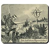 Ich hatte einen Kameraden Wk Postkarte Soldaten Grab Gefallener Deutschland Pickelhaube Volkstrauertag Gedenken Opfer - Mauspad Mousepad Computer Laptop PC #9580
