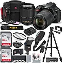 Nikon D5600 DSLR Camera With NIKKOR 18-140mm Lens W/2 X 32GB Memory Card + Digital Slave Flash, Filters & Macro Close-up Set, Quick Release Shoulder Strap + Xpix Accessories And Deluxe Bundle