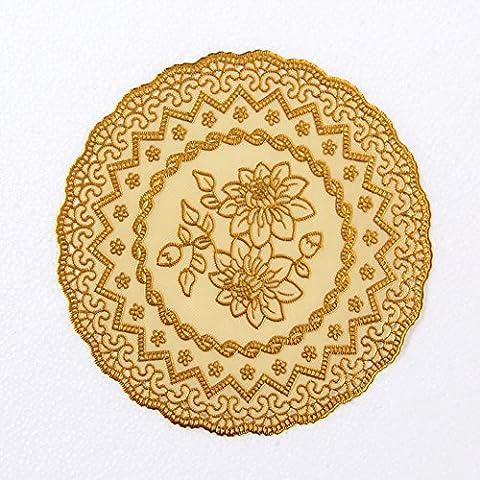 pad caldo/ tondo Tovaglietta/ presina resistente al calore/ tappetino/ Ciotola pad/Tappeto impermeabile-B 30x30cm(12x12inch) - Pad Lemonade