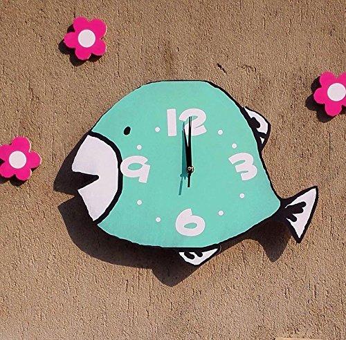 Beloved clock Wanduhr Modern Neu Für Jeden Raum präzise von Deep-Sea Fisch Cartoon Kinderzimmer Clock Leisen Wohnzimmer Schlafzimmer Clock Mode Kreativ