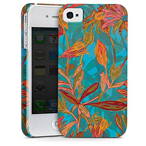 Apple iPhone X Silikon Hülle Case Schutzhülle Herbstblumen Blumen Muster Premium Case glänzend