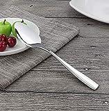 Dessert Spoon,Elegant Life Fine Stainless Steel Dessert Spoon Milk Spoon Ice Cream Spoons