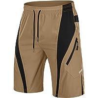 TACVASEN Men's Cycling Shorts Mountain Biking Shorts Quick Dry Outdoor Short Zip Pockets