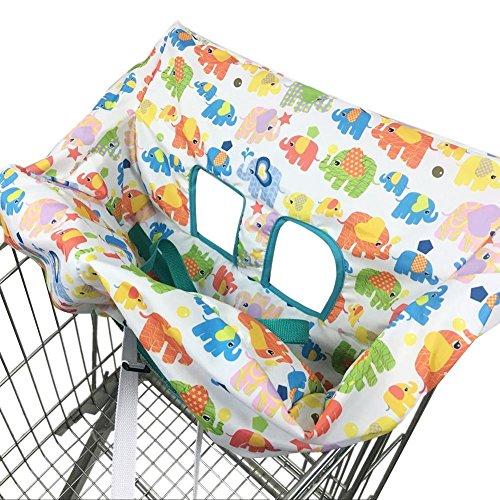 Carro de la Compra Cojín del bebé Cojín para niños Lindo Elefante de Dibujos Animados Asiento Impreso Silla de Comedor Funda Niños Niñas Bolsa Plegable Universal Adaptador para Trona