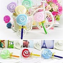 Fenghong Lollipop Toalla Toallita, Lindo Mini Lollipop Bebé Nupcial Algodón Toalla Ducha de Mano Fiesta