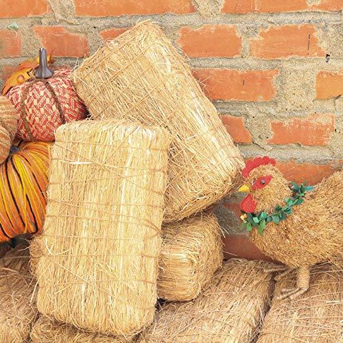 e Stroh Bale Ziegel Rustikalen Heu Ballen Hause Dekoration Herbst Frühling Festival Liefert Scheune zubehör ()