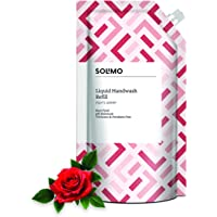 Amazon Brand - Solimo Antibacterial Handwash Liquid Refill, Rose - 750 ml