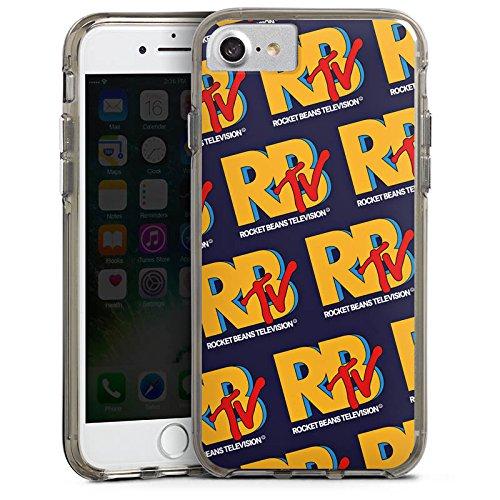 Apple iPhone X Silikon Hülle Case Schutzhülle Rocket Beans TV RBTV Merchandise Bumper Case transparent grau