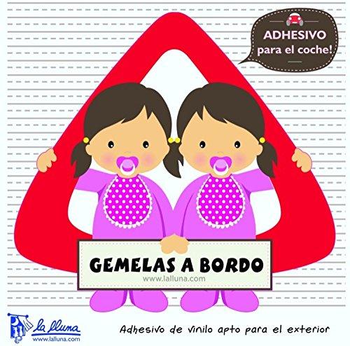 Detalles Infantiles - Bebé a bordo gemelas. triángulo adhesivo para el coche