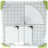 Tonic Studios 350e - Alfombrilla de corte (cristal, 30 x 30 cm), color blanco y verde
