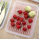 Kühlschrank Aufbewahrungsbox, tianranrt New Kühlschrank Erhaltung Aufbewahrungsbox Halter Schutzhülle Fresh Fruit Küche Ablauf Rack, plastik, rose, 28*20*5cm