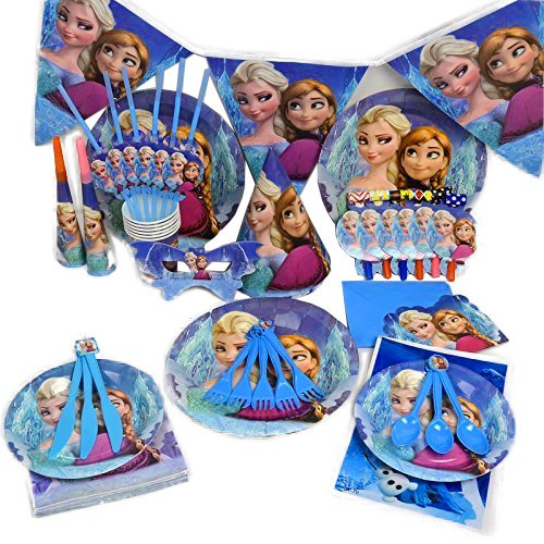 Trimming Shop 2016Partyset, Olaf/ Anna/ Elsaaus Disney's
