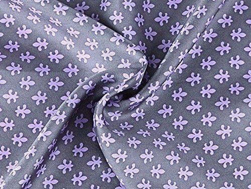 Prettystern - 2 plis longue 100% Echarpe SOIE Hommes - crêpe satin soie et velours de soie - sélection de couleur douce et chaude et 7. Gris / Violet