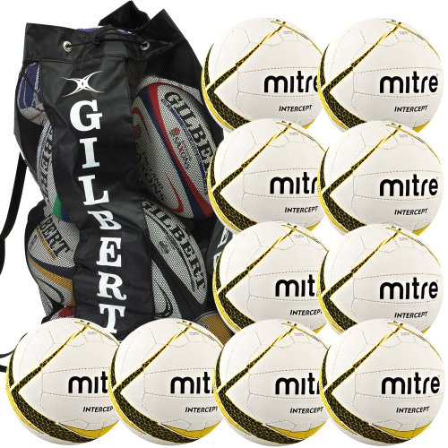 mitre-intercept-netball-package-10-size-5-netballs-with-free-ball-sack