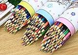 MINGZE Buntstifte 48 Einzigartige Farben, Weicher Kern Farbstiften, Vor-angespitzte Kunst Malzeichnung Bleistifte für