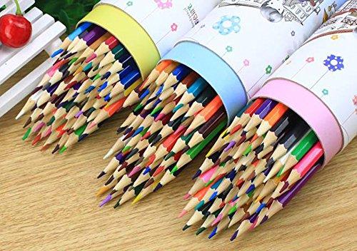 MINGZE Buntstifte 48 Einzigartige Farben, Weicher Kern Farbstiften, Vor-angespitzte Kunst Malzeichnung Bleistifte für Erwachsene Malbuch, Skizze, Crafting-Projekte