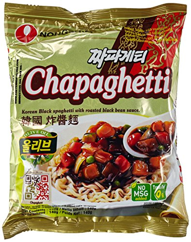Nong Shim Instantnudeln Chapaghetti - Traditionelles koreanisches Nudelgericht - Instantnudeln - schnelle Zubereitung - 20er Vorteilspack à 140g (Grüner Tee-öl-extrakt)
