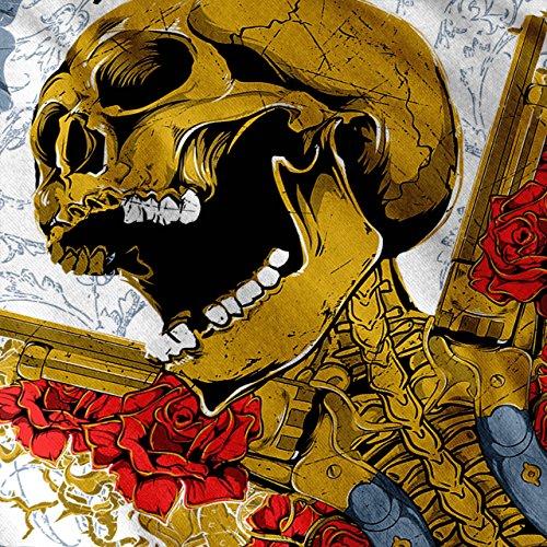 Guns Et Des roses Crâne La musique héros Women S-2XL Débardeur   Wellcoda Blanc