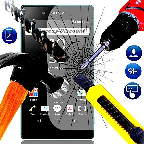 A&D® FILM PROTECTION Ecran en VERRE Trempé pour SONY XPERIA Z5 PREMIUM filtre protecteur d'écran INVISIBLE & INRAYABLE vitre INCASSABLE pour Smartphone Xpéria Z 5 PREMIUM Dual sim double 4G