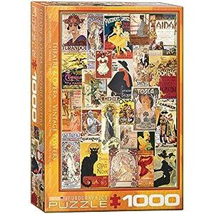 "Rompecabezas Eurographics 6000-0935""Opera Theatre Vintage Collage (1000 Piezas)"