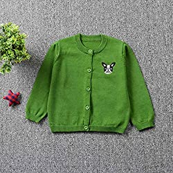 erthome Toddler Kids Boys Girls Clothes Knitted Colorful Dog Sweater Cardigan Coat