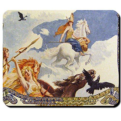 walküren spirito natura Odin Nornen Fylgien vergini Disen scudo Einherjer morte angelo Cavalli corvi-Tappetino per mouse mousepad computer laptop pc # 16122