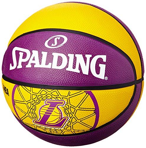 Spalding Basketball Team L.A. Lakers - Pelota de baloncesto, color multicolor, talla 3