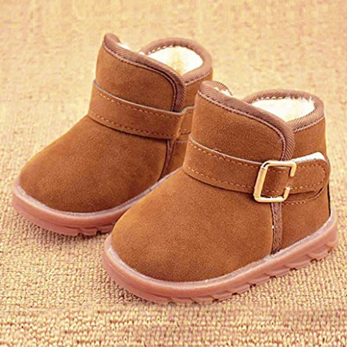 pour 1-6 ans Enfants, Amlaiworld Coton bottes de neige chaude Kaki