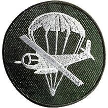 Parches - aviones de transporte militar - verde - Ø7,4cm - termoadhesivos bordados aplique para ropa