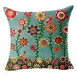 serliy Baum Kissenbezüge Bett Auto gedruckt Baumwolle Leinen Sofa Vintage Kissenbezug