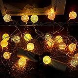 TAOtTAO Vorhang Wattebausch Lichter String House Party Decor Auffällig mit 20 LED-Perlen (B)