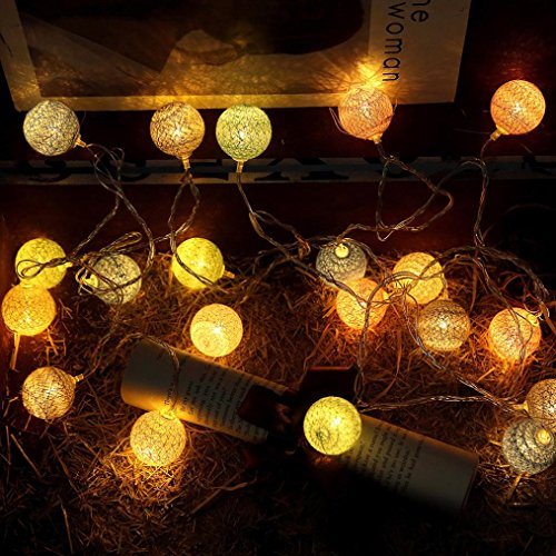 ebausch Lichter String House Party Decor Auffällig mit 20 LED-Perlen (B) ()