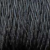 Fils Electriques Torsadé Tissu Rétro /9 Couleurs Au Choix (Noir, 10M)