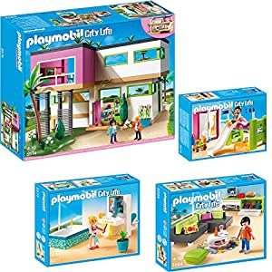 Playmobil city life set des 4 partes 5574 luxueuse villa for Salle a manger playmobil city life