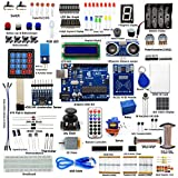 Adeept RFID Starter Kit for Arduino UNO R3 from Knowing to Utilizing, Servo, RC522 RFID Module, PS2 Joystick, Beginner Starter Learning Kit with Guidebook(PDF) and C Code