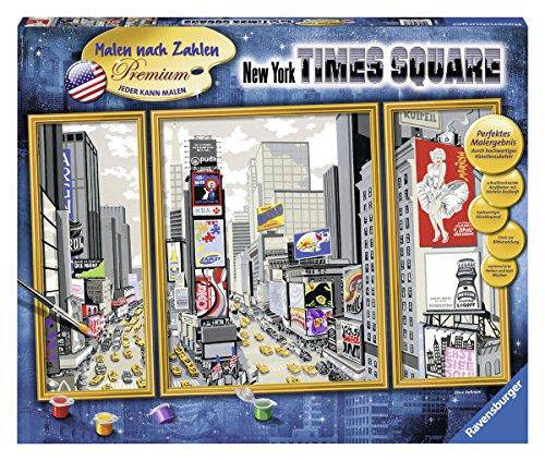 Ravensburger 28966 - New York Times Square - Malen nach Zahlen Premium Triptychon, 80 x 50 cm