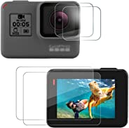 Taisioner 9H Screen Protective Film Lens Protect Foils 2pcs each for GoPro Hero 5 6 7 Black Action Camera Accessories