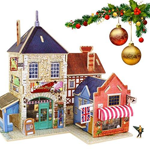 s der Puzzlespiele Britische Musik-Speicher Woodcraft-Bau-Satz Versammlung DIY Weihnachtsgeburtstags-Geschenk Mini DIY Puppen-Haus (Halloween Handwerk Für 1 Jahr Alt)