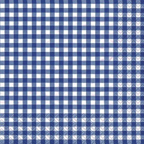 20 Servietten Karo dunkelblau / kariert / zeitlos 33x33cm
