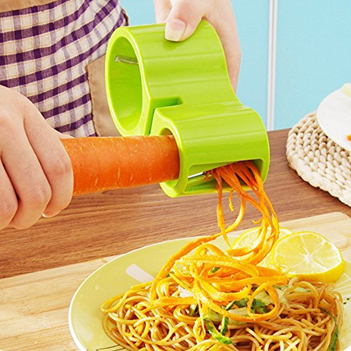 boldion (TM) Neue Premium Gemüse Spiralizer, Spiralschneider, Zucchini Nudeln Pasta Spaghetti Spiralen Maker Julienne-Schneider Schäler grün