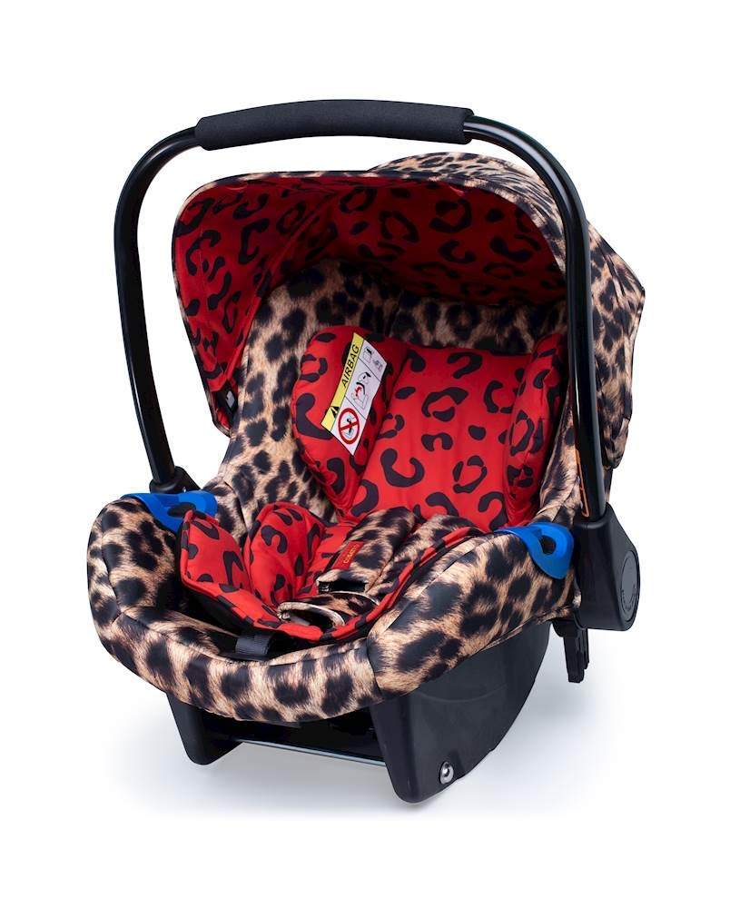 Cosatto Paloma Faith Group Port 0+ Hear Us Roar - Leopard Print Cosatto Port is suitable from birth to 13kg (12-15 months approx) Rearward facing, it fits with standard 3 point in-car seatbelts The deep comfortable shell and side impact protection bring extra in-car security 1