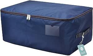 sac de rangement en tissu Oxford Plaid Bleu EVST Sac de rangement sous v/êtement de lit