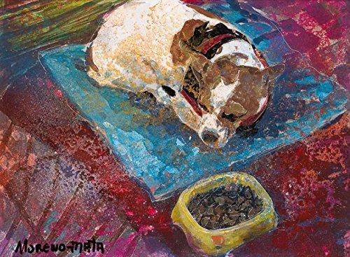 Schlafender Hund Original Handmade Malerei