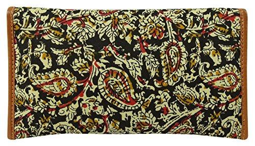 Frauen Paisley druckte Handtasche Tasche Kette Sling Clutch Farbe wählen Schwarz