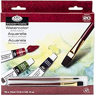 Royal & Langnickel WAT18 - Pack de 18 tubos de pintura para acuarela (12 ml, 2 pinceles), multicolor (B00191IT0M) | Amazon Products