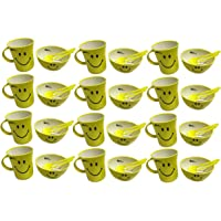 Kids Trends Smiley Bowl Gift Set of Bowl & Mug for,Return Gifts for Kids Birthday Party (Pack of 12)