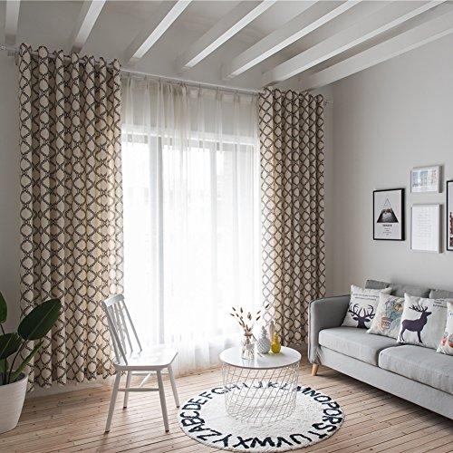 Bloomma tenda di finestra, pannello di tenda stampato in fibra di poliestere con trasparenza del 70% per il balcone del soggiorno della camera da letto per bambini,39.37