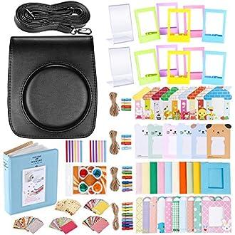 Neewer 56-en-1 kit accessorio per Fujifilm instax mini 90 (Nero), scatola fotocamera con cinturino regolabile, Vari Marcos, album libro, lente Primo piano, etichette adesive angolo, adesivo